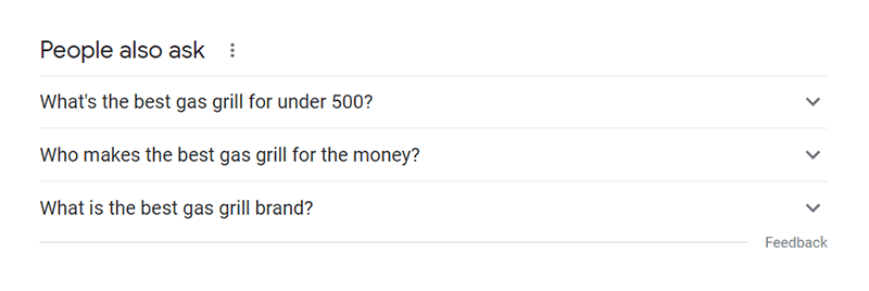 Google search people also ask