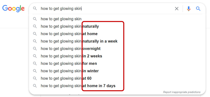 Google Search Related Suggestions