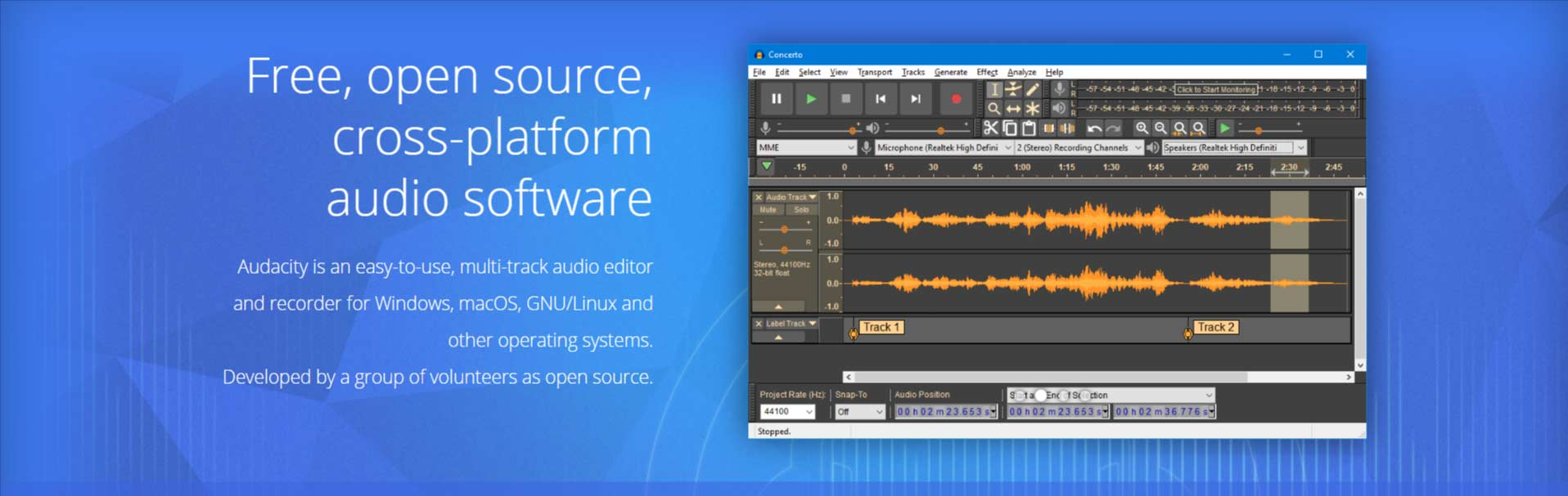 Audacity Best Podcast Software Free