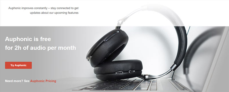Try Auphonic For Free Every Month