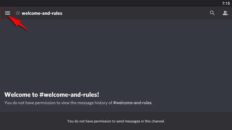 discord android app open menu