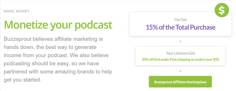 Monetize your podcast with Buzzsprout