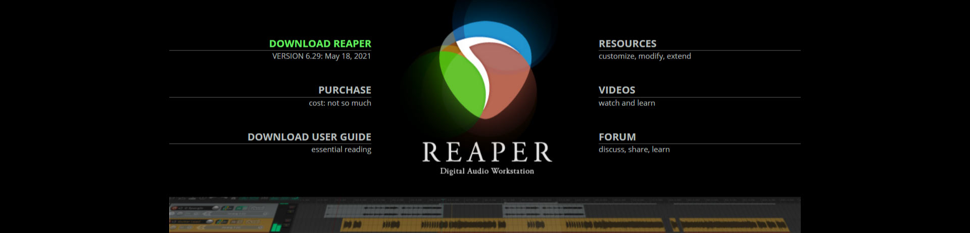 Reaper podcast software